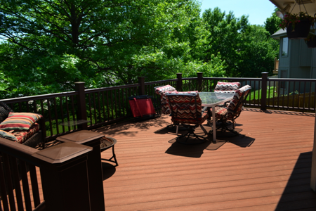 TimberTech Terrain Deck in Brown Oak