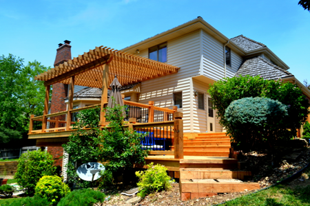 Western Red Cedar Deck with Pergola