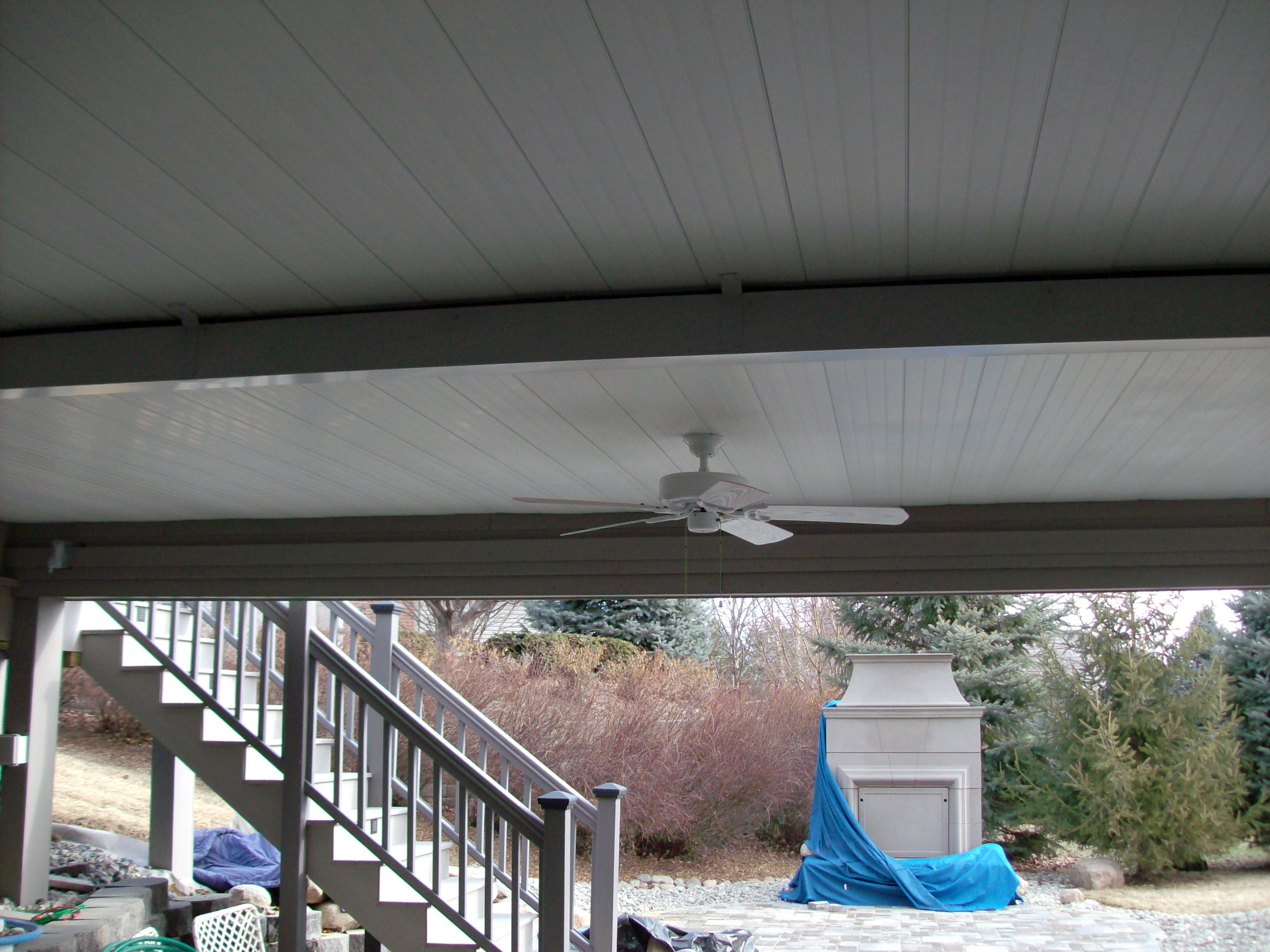 DrySnap Under Deck with Ceiling Fan on West Omaha Deck