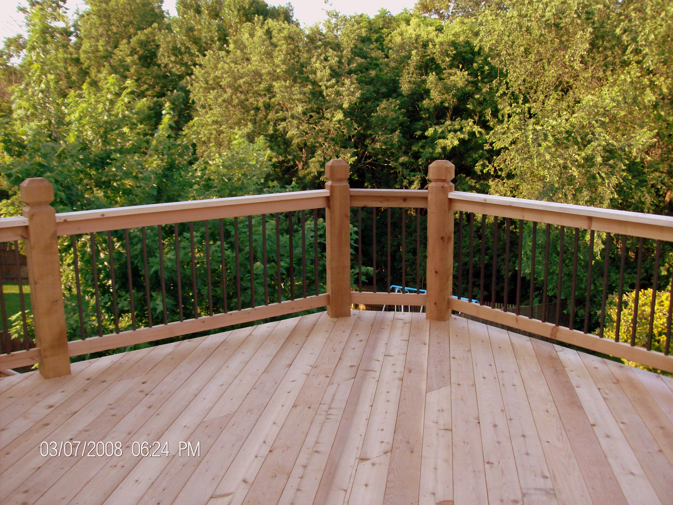 Mike jansen custom cedar decks composite cedar deck products still one of the best choices for decking material today western red cedar decks are hard to beat for value appearance and versatility baanklon Image collections
