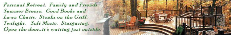Discover your outdoor living space this year! Mike Jansen Custom Cedar Decks